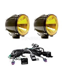 Carbon Pod – 70w Hid Amber Spread Sys (pair)