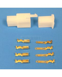 4 pin White connector used commonly on electric scooters, ebikes, and go carts