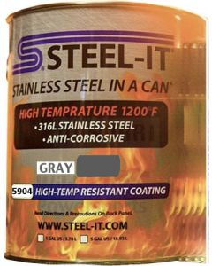 STEEL-IT 5904G - Gray High Temp Coating (Gallon)