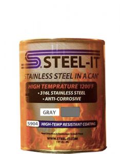STEEL-IT 5904Q - Gray High Temp Coating (Quart)