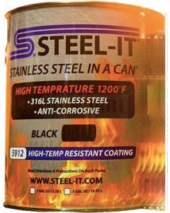 STEEL-IT 5912G - Black High Temp Coating (Gallon)