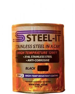 STEEL-IT 5912Q - Black High Temp Coating (Quart)