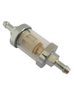 "Bikemaster 1/4"" Glass fuel filter"
