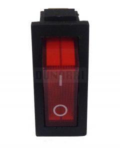 AC Red Light illuminated Rocker Switch KCD3