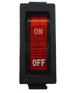 AC Red Light illuminated Rocker Switch KCD3 On/Off