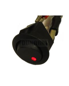 Round Rocker Switch 12V with Red LED