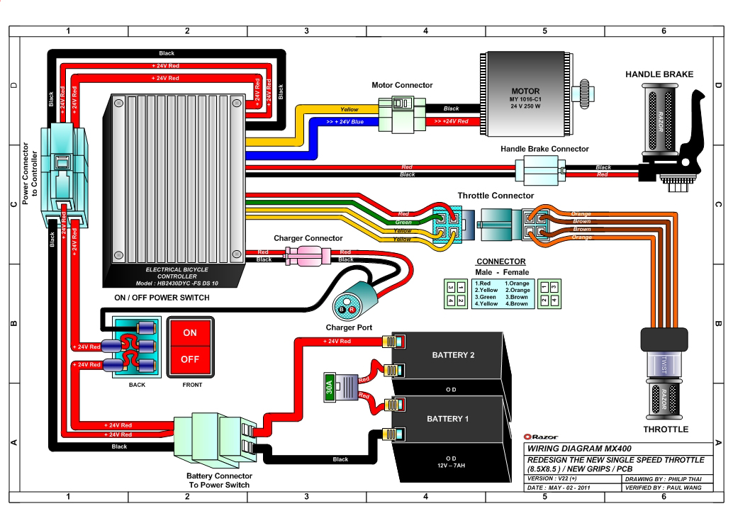 Wiring Diagram For Electric Scooter Wiring Diagram For