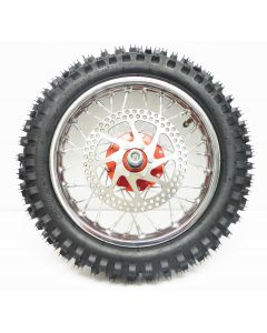 SX500 Front Wheel w/Red Hub Complete