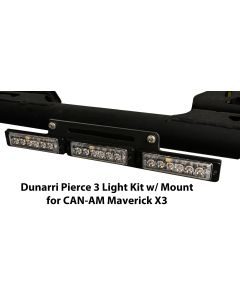 Dunarri Pierce 3 Light Kit for Can-AM Maverick X3 (Includes lights, bar, and mounting hardware)