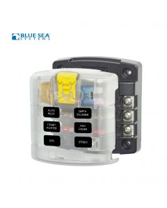 Blue Sea 5028 ST Blade Fuse Block  - 6 circuits w / cover