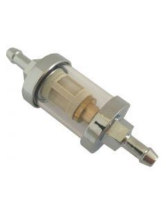 "Bikemaster 1/4"" Glass fuel filter"