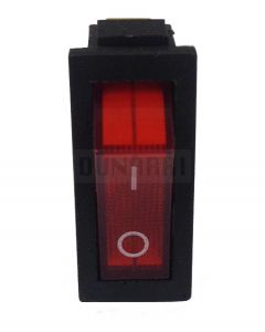 AC Red Light illuminated Rocker Switch KCD3