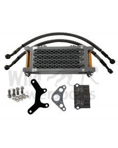 Gold/Silver Piranha Complete Oil Cooler Kit & Mount for Honda Crf50 Xr50 Atc70 and clones