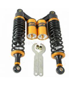 Black/Gold Remote Reservoir Mini Shock Kit 320mm (Fits Honda CT70)