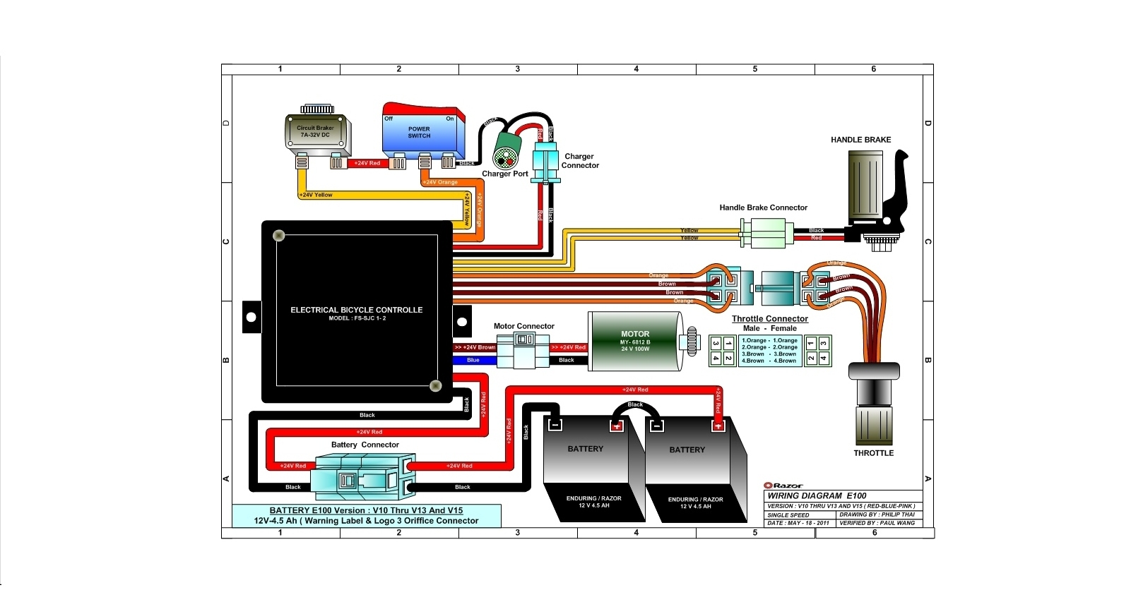 ... E100 (versions 10-13 & 15) Wiring Diagram ...