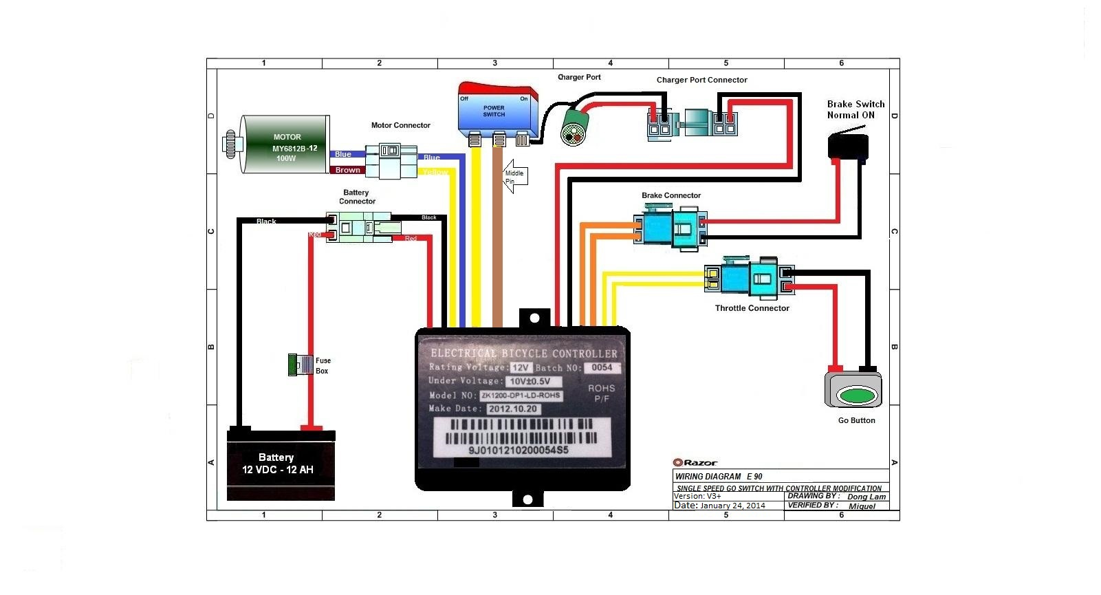... E90 (versions 3+) Wiring Diagram ...