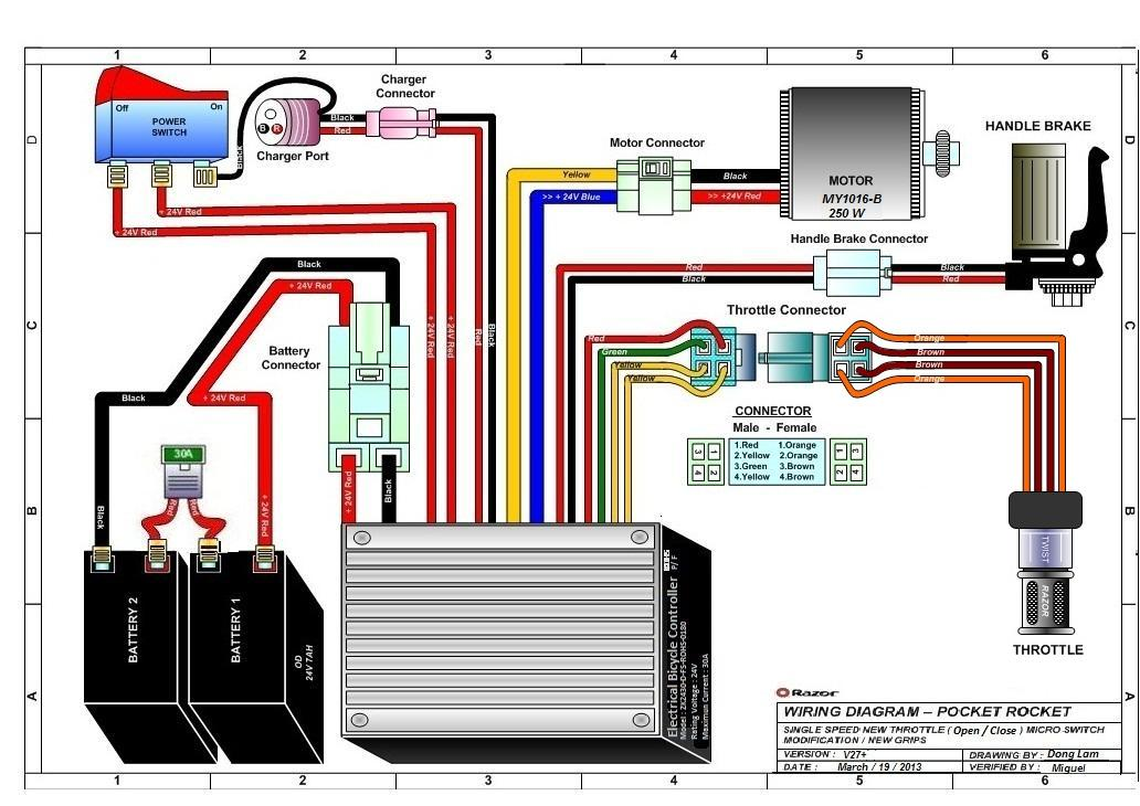 Razor Manualsrhwildscooterparts: Pocket Rocket Razor E100 Wiring Diagram At Gmaili.net